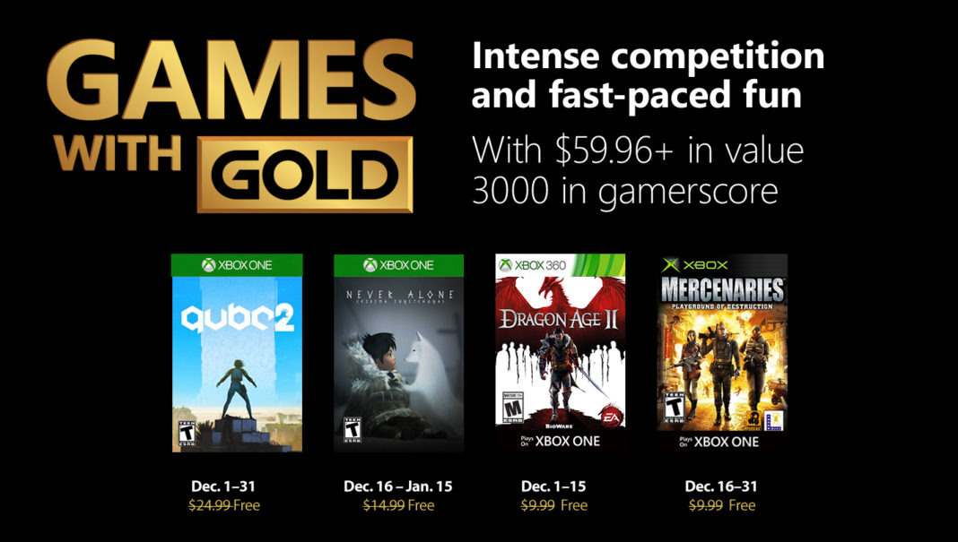 Alle Xbox Games with Gold im Dezember 2018