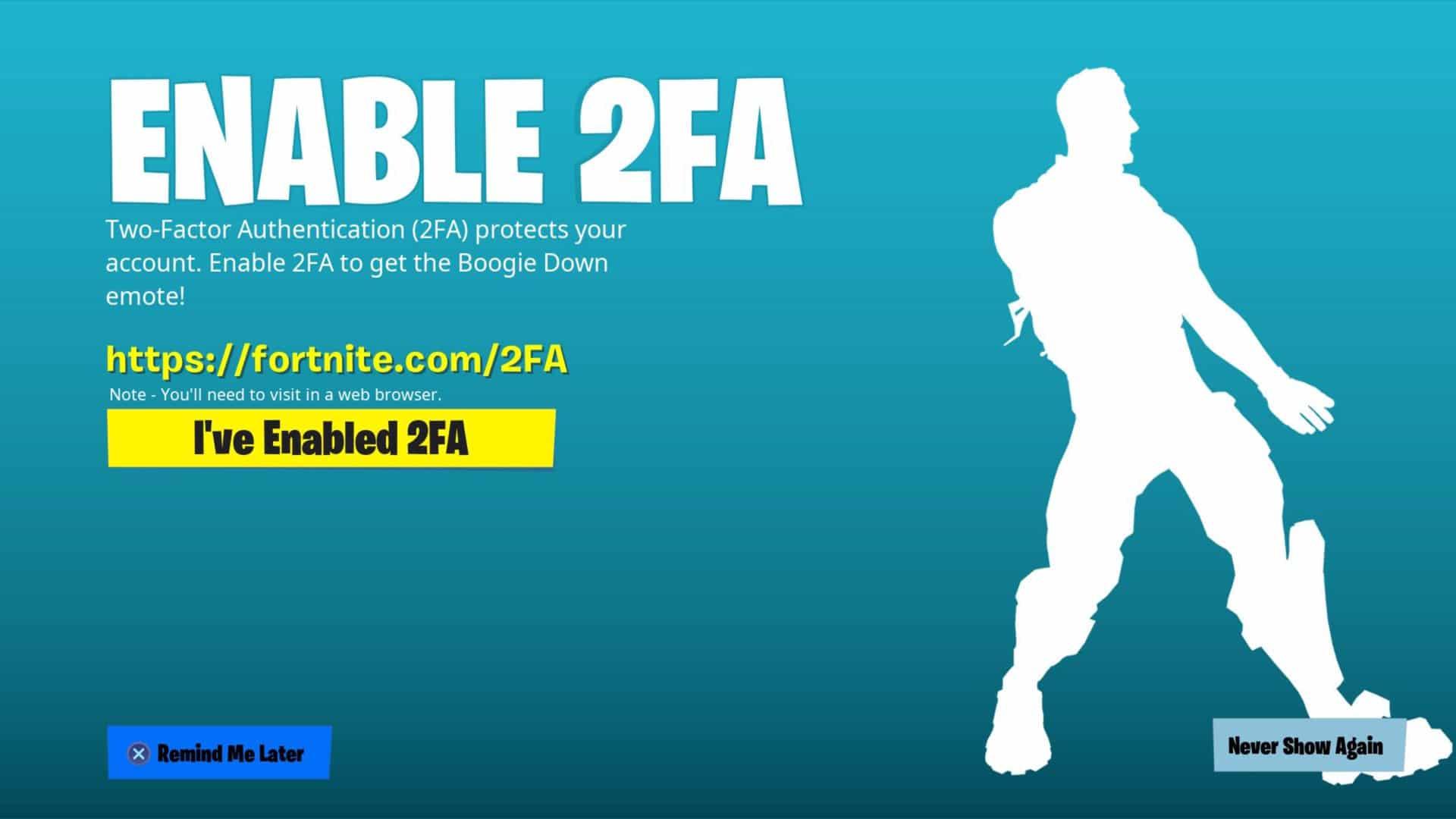 Fortnite 2FA aktivieren einfach