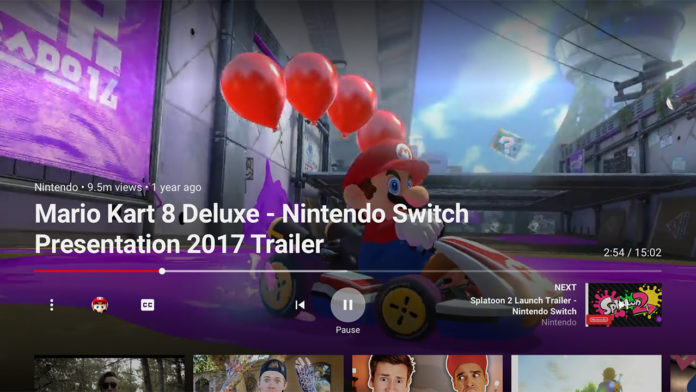 Nintendo Switch YouTube-App