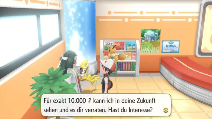 Pokemon Let's Go Wesen ändern mit Hilfe der Wahrsagerin