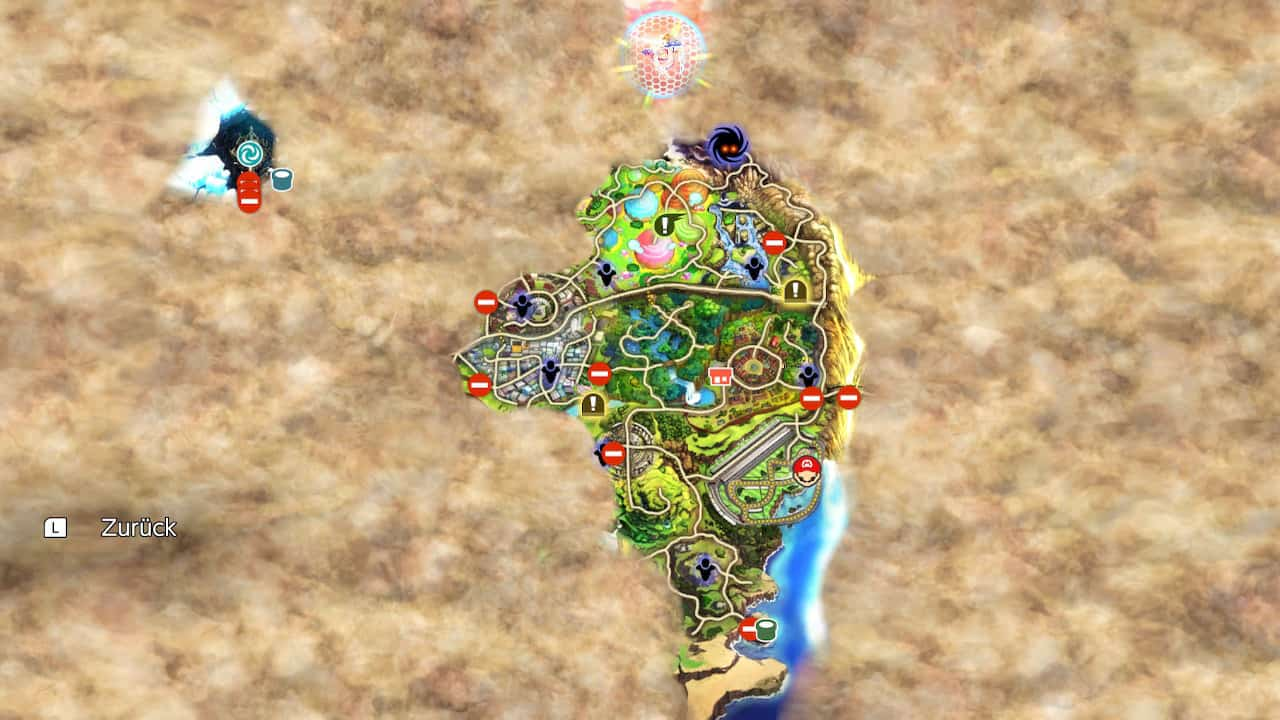 Super Smash Bros Ultimate Weltkarte Abenteuer-Modus