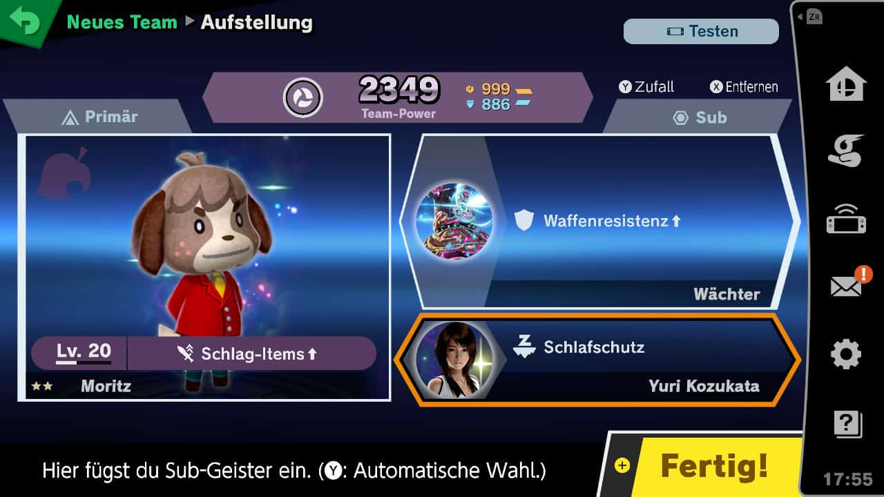 Super Smash Bros Ultimate Geister Team Aufstellen