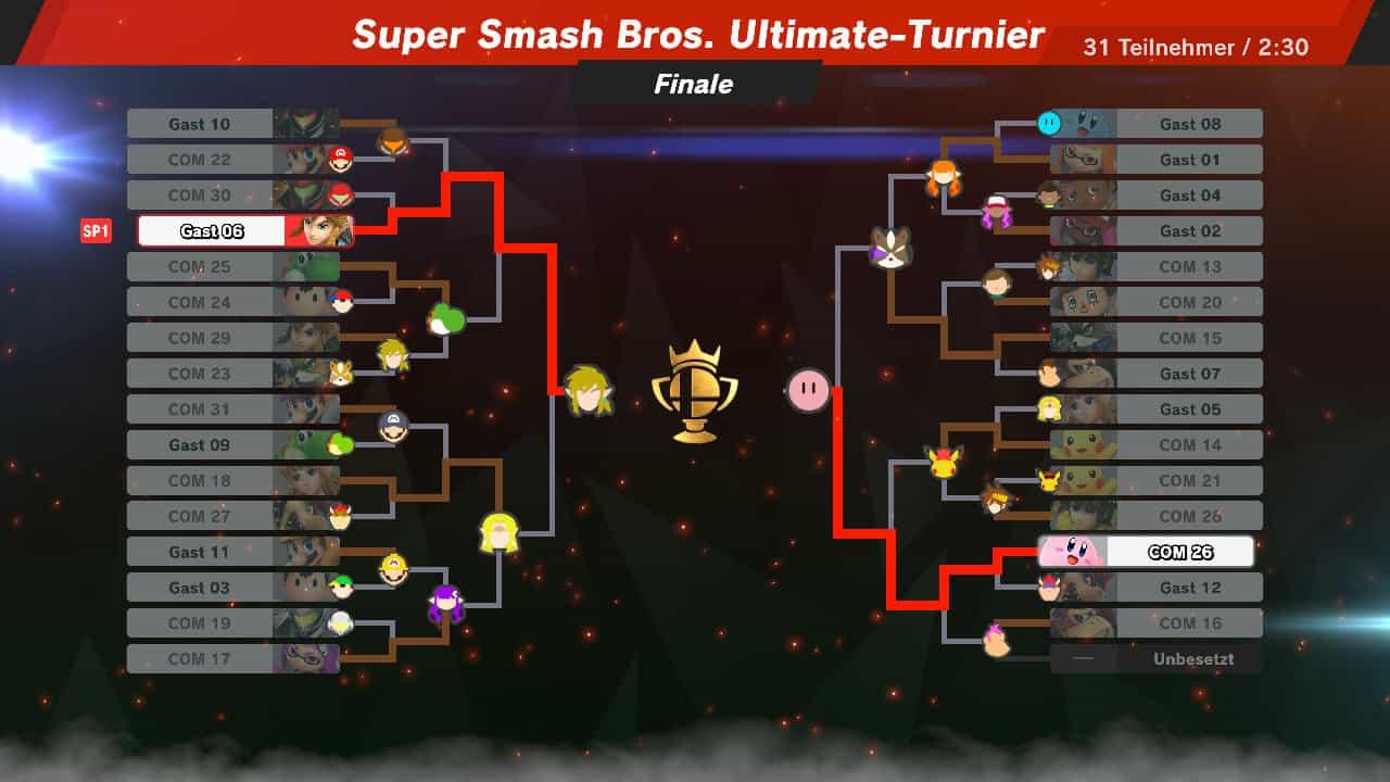 Super Smash Bros Ultimate Turnier Bracket