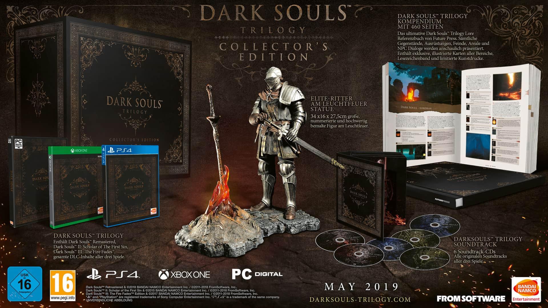 Die Dark Souls: Trilogy Collector's Edition und Kompendium