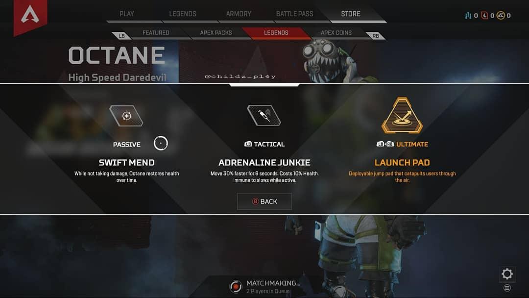Apex Legends Octane Fähigkeiten