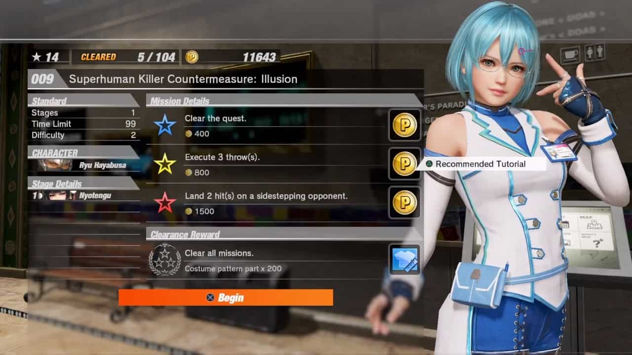 DEAD OR ALIVE 6 Player Points