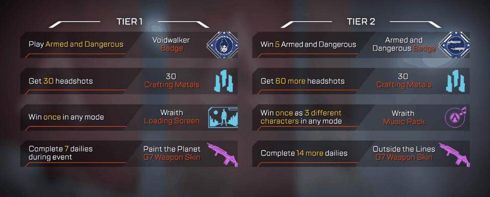 Voidwalker Apex Legends Event Challenges