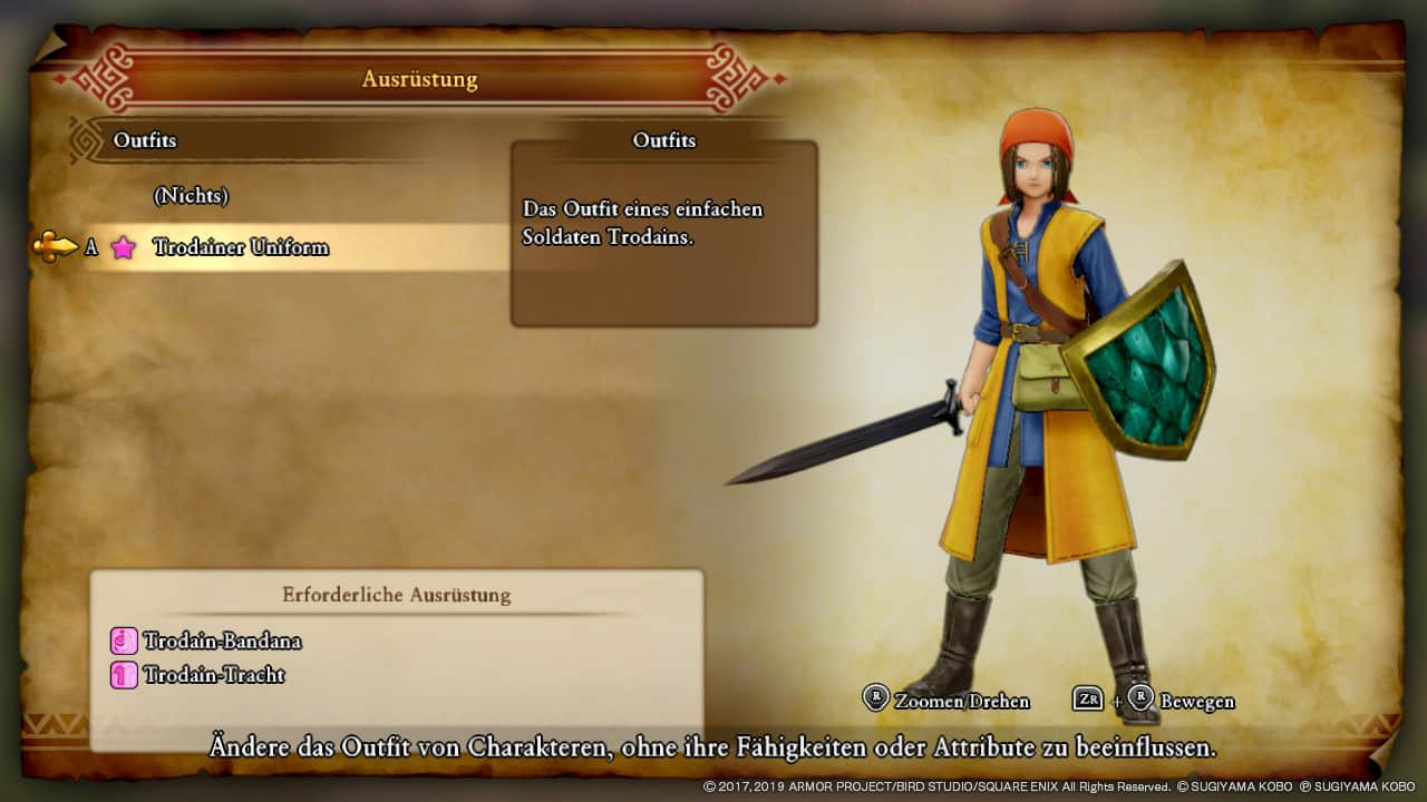 Dragon Quest XI Alle Kostüme