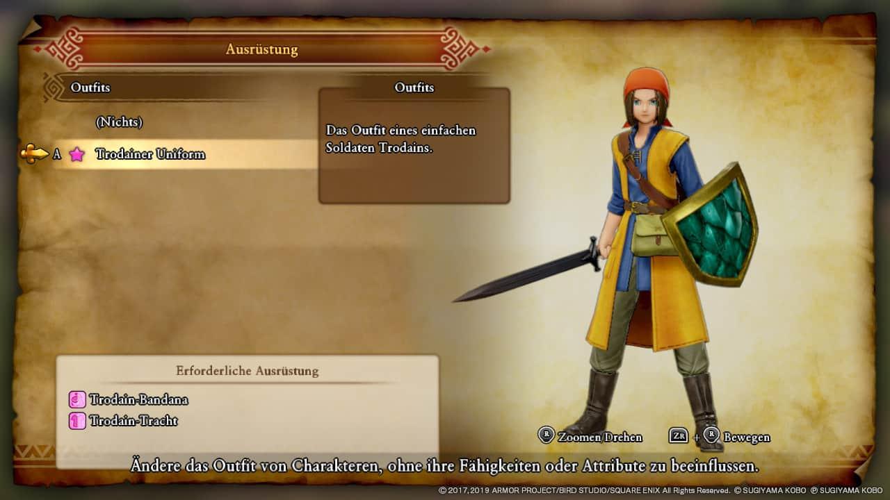 Dragon Quest XI Alle Kostüme