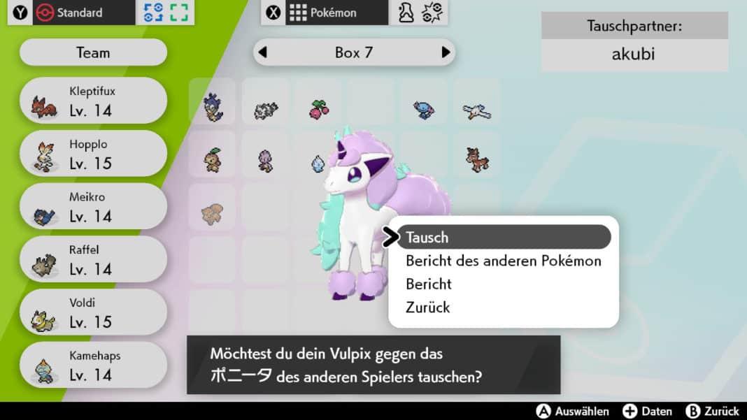 Pokemon Schwert Schild Link-Tausch