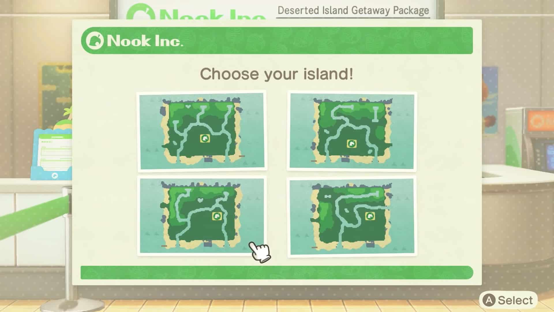 Animal Crossing New Horizons Insel auswählen